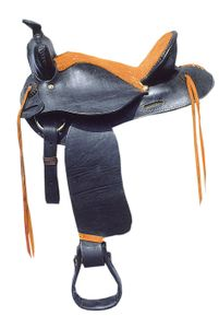 Westernsattel für Großpferde Tampico, schwarz