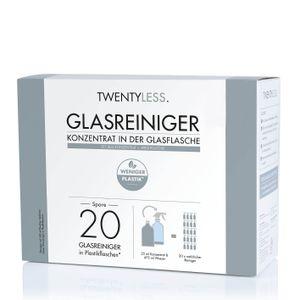 TWENTYLESS Glas Reinigungs-Set Glasreiniger (500ml Konzentrat inkl Sprühflasche)
