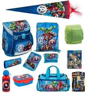 Avengers Schulranzen Set 17tlg Scooli Campus Fit Schultasche 1. Klasse mit Sporttasche und Schultüte 85cm Schulanfang Einschulung