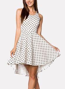Hipstylers - Damen SUMMER Asymmetrisches Pinafore Kleid - WHITE/BLACK - S