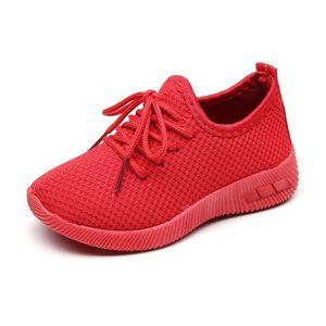 Kinder Kleinkind Kinder Baby Mädchen Jungen Solid Sport Running Sneakers Freizeitschuhe Größe:35,Farbe:Rot