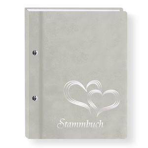 Stammbuch der Familie Glamour hellgrau Stammbücher A4 Familienstammbuch Hochzeit