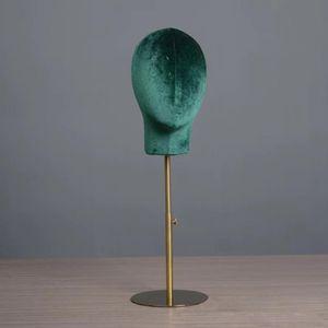Schaufensterpuppe Gliederpuppe Kopf Modell Perücken Brille Hüte Display Stand Dunkelgrün 6 Haar-Schaufensterpuppe wie beschrieben