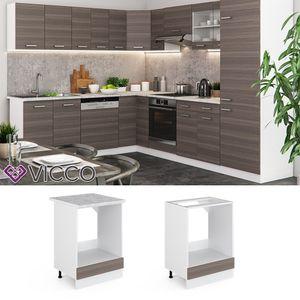 Vicco Herdumbauschrank 60 cm ohne Arbeitsplatte Küchenschrank Küchenschränke Küchenunterschrank R-Line Küchenzeile