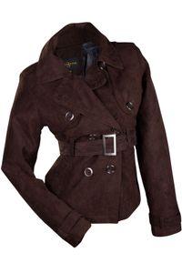 Catwalk Damen Jacke Übergangsjacke WildKunstleder Farbe:Braun, Größe:L