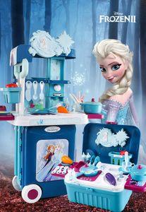 Frozen 2 Mobile Küche 3 in 1 Kinder Trolley Koffer Rollenspiel Spielzeug pädagogisches Spielzeug Kinder Geschenk