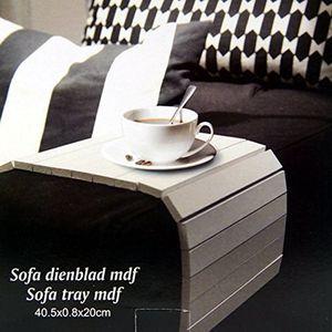 Sofatablett Flexablage Tablett Ablage Armlehnen (weiss)