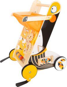 small foot 11737 Lauflernwagen Tukan aus Holz mit Bremssystem und vielseitigen Spielmöglichkeiten, für Kinder ab 1 Jahr