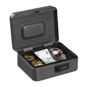 relaxdays Geldkassette mit Zahlenkombination