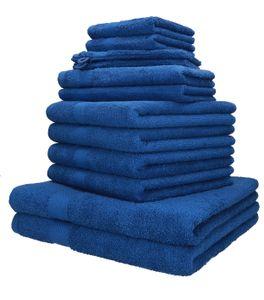 Betz 12er Handtuch-Set PALERMO, 100% Baumwolle, Farbe  blau