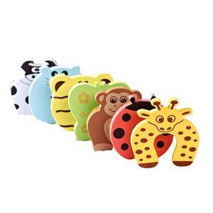 6x Baby Sicherheitsschaum Türstopper Tier Designs