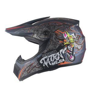 Mejia Crosshelm für Kinder mattgrau Motocrosshelm Helm Kinderhelm Endurohelm  XS