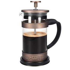 Navaris French Press Kaffeebereiter mit Edelstahl Filter - 350 ml Stempelkanne - 12x8,5x16,5cm - 0,35 l Kaffeezubereiter Presskanne - auch für Tee