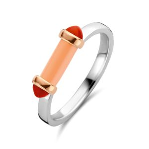 12224CP/54, 12224CP/56 Ring Korallenpink Silber-Rosègold plattiert 12224CP Ti Sento Milano