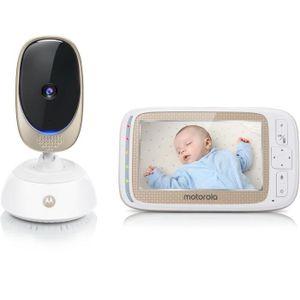 MOTOROLA BABY Comfort 85 verbinden 2 in 1 (WLAN auf Smartphone + Videobildschirm 5) Nachtlicht, Schlaflieder, Geräusche der Natur