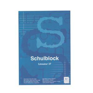 10x Schulblock / Schreibblock / DIN A4 / Lineatur 27 (liniert)