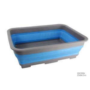 WASCHBECKEN 37x28cm faltbar Spülschüssel Faltschüssel Campingschüssel Camping 88 (Blau)