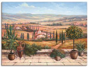 ARTland Leinwandbilder Terrasse Leinwandbild auf Keilrahmen Größe: 120x90 cm