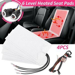 AUDEW 4Stk. Auto Carbon Sitzheizung Heizmatten 2 Sitzen 6 Stufen Nachrüstsatz Universal