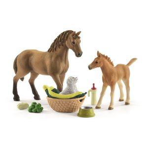 Schleich Horse Club 42432 Set Tierbaby-Pflege und Pferde Quarter Horse