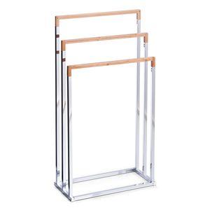 Zeller Handtuchständer, Bamboo/Metall verchromt 45x21,5x84,5
