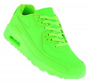 Neon Turnschuhe Schuhe Sneaker Sportschuhe Luftpolstersohle Herren 099, Schuhgröße:42, Farbe:Grün