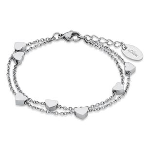 s.Oliver 2018830 Mädchen Armband Herzen Edelstahl Silber 16 cm