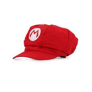 Super Mario Mütze ROT - Kostüm für Erwachsene & Kinder in 4 verschiedenen Farben - perfekt für Fasching, Karneval & Cosplay - klassische Cappy Cap