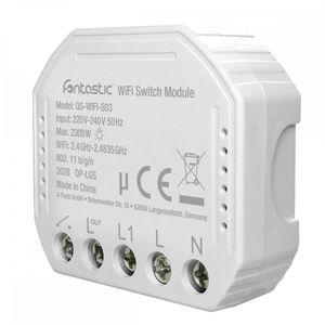 Fontastic WLAN Unterputz-Schalter für Schalter & Steckdosen komp. zu Android,iOS,Alexa,Google Assistant