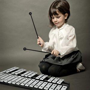 COSTWAY 30 Noten Glockenspiel Xylophon Handpercussion mit Schlägel Tragetasche, Percussion Geeignet für Kinder und Erwachsene