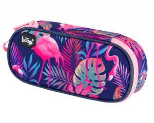 Baagl Mäppchen für Mädchen - Federmäppchen für Schrein - Schulsachen Federtasche, Kinder Schlamppermäppchen, Federmappe für Schule (Flamingo)
