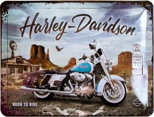 Nostalgic-Art - Blechschild Metallschild 15x20cm - Harley-Davidson Route 66