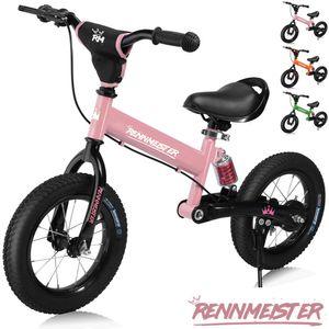 Laufrad Rennmeister® Kinderlaufrad Kinder Lauflernrad Balance Bike Fahrrad 12', Farbe:pink