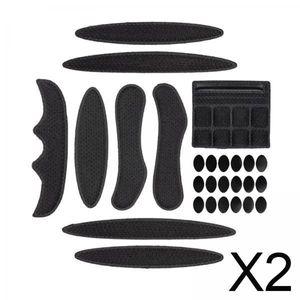 2x27pcs / Set Bike Helmet Padding Kits Fahrradhelm Liner Chin Strap Foam Pads Schwarz