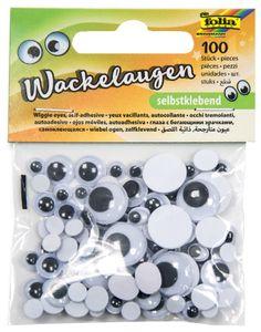 folia Wackelaugen Größen sortiert selbstklebend 100 Stück