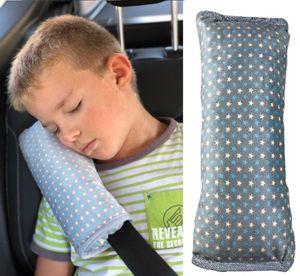 HECKBO Sterne Gurtkissen Gurtpolster für Kinder - maschinenwaschbar - super weich - hochwertiges Auto Schlafkissen · Gurtkissen Gurtschutz - 30cmx12cm