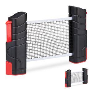relaxdays 2 x Tischtennisnetz Pingpong Netz ausziehbar Netzgarnitur mobil Table Tennis Net