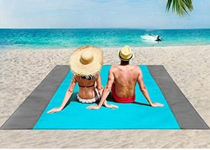 Picknickdecke 200 x 210 cm wasserdichte Stranddecke, Strandmatte 4 Stranddecke mit festem Winkel ohne Sand- / Strandpicknick, Camping, Wandern und Ausflüge