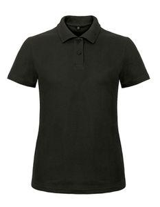 B&C Ladies Piqué Damen Polo Shirt - PWI11, Größe:L, Farbe:Schwarz