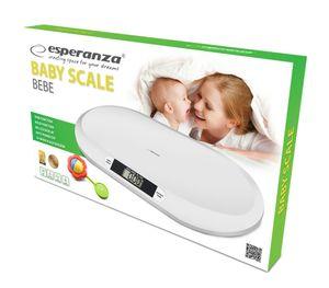 Esperanza Babywaage/Säuglingswaage/Tierwaage weiß