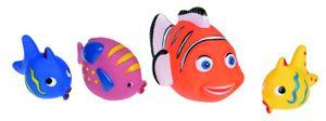 """4 verschiedene Spritztiere """"Fische"""" / Badewannen Spielzeug"""