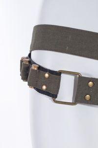 Steampunk Baumwoll-Gürtel mit Tasche und Pistolen-Kugeln, Farbe:Schwarz