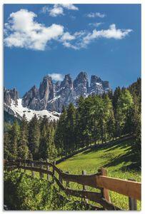 ARTland Alubilder Villnösstal mit Dolomiten, Südtirol Alubild Größe: 40x60 cm