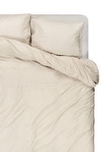 House In Style | Luxus Bettbezug Set Como | Baumwollsatin und Rand Leinen, Größe:200-220 cm, Farbe:Marble