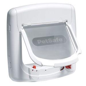 PetSafe Magnetische 4-Wege-Katzenklappe Deluxe 400 Weiß 5005