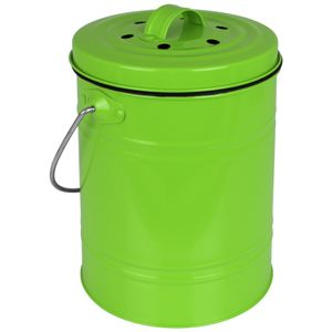 Küchenmülleimer3L grün Mülleimer Küche Abfalleimer klein Tischmülleimer Komposteimer Biotonne Tischabfalleimer Biomülleimer