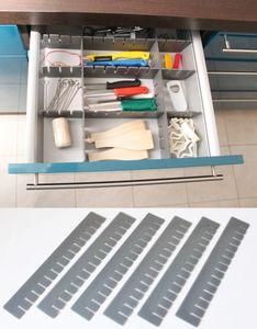 30 Stück Schubladeneinteiler Schubladenteiler Fachteiler Grau Zuschneidbar