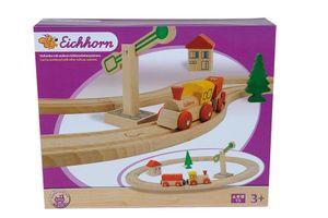 Eichhorn - Holzlok mit Gleise (15 teilig)