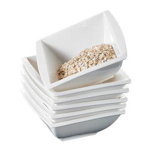 MALACASA, Serie Blance, 6 Tlg. Porzellan Müslischalen Set Schüssel Dessertschalen Bowl für 6 Personen
