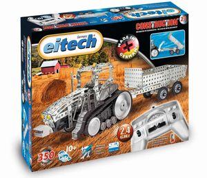 Eitech 00023 - Metallbaukasten RC Traktor mit Anhänger, 2.4 GHz  Trekker Ferngesteuert
